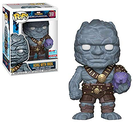 Funko POP! Thor: Ragnarok - Korg with Miek Vinyl Figure #391 2018 Fall Convention Exclusive (NOT 100% MINT)