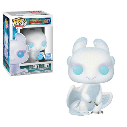 Funko POP! How To Train Your Dragon - Light Fury (Glitter) Vinyl Figure #687 Funko-Shop Exclusive (NOT 100% MINT)