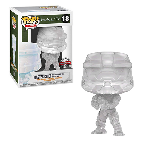 Funko POP! Halo Infinite - Master Chief Active Camo Vinyl Figure #18 Special Edition Exclusive [READ DESCRIPTION]