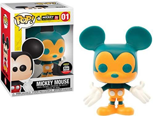 Funko POP! Mickey Mouse (Orange and Teal) Vinyl Figure #1 Funko-Shop Exclusive (NOT 100% MINT)