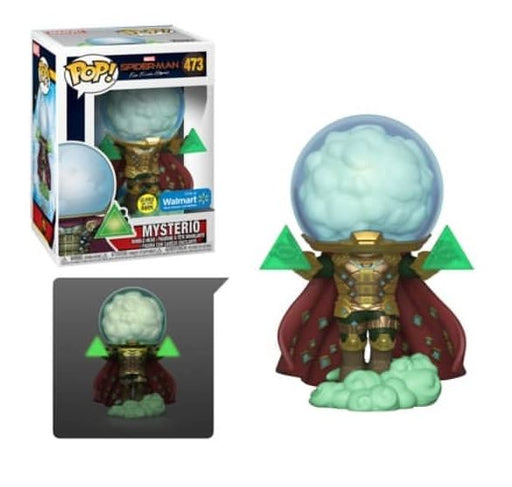 Funko POP! Spider-Man: Far From Home - Mysterio (Glow In The Dark) Vinyl Figure #473 Walmart Exclusive (NOT 100% MINT)