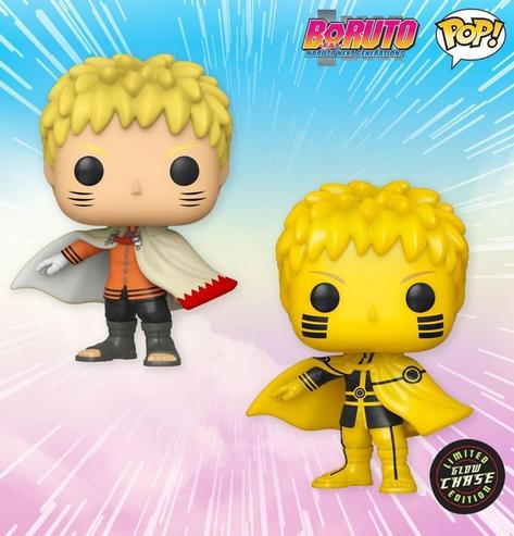 Funko POP! Boruto: Naruto Next Generations - Naruto (Hokage) Common and Chase Bundle #724 AAA Anime Exclusive [READ DESCRIPTION]