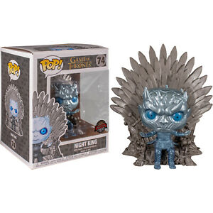 Funko POP! Game of Thrones - Night King on Iron Throne (Metallic) 6-Inch Vinyl Figure #74 Special Edition [READ DESCRIPTION]