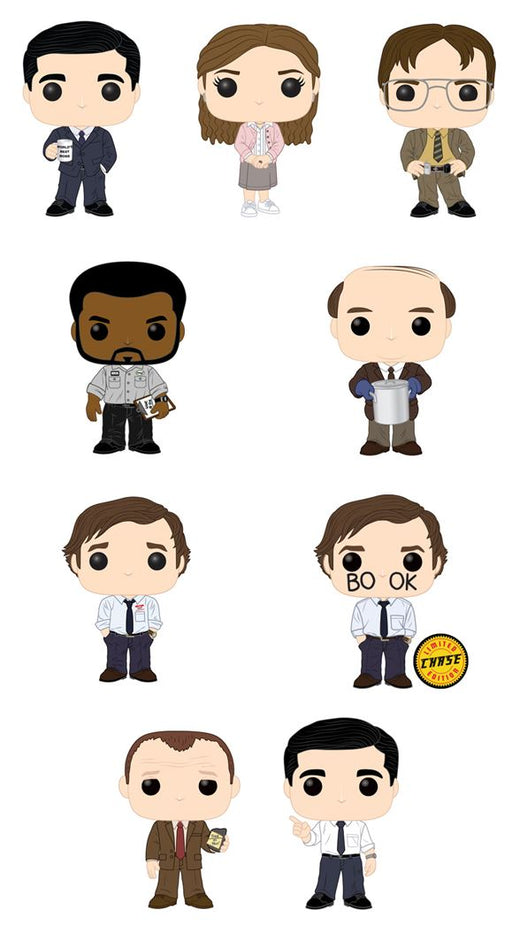 Funko POP! The Office - Complete Set of 9 Chase Included