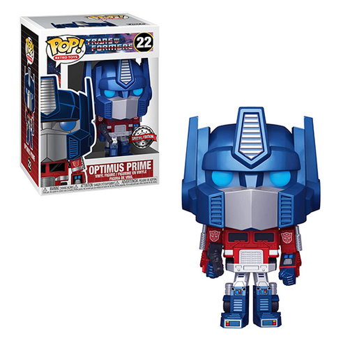 Funko POP! Transformers - Optimus Prime (Metallic) Vinyl Figure #22 Special Edition Exclusive [READ DESCRIPTION]
