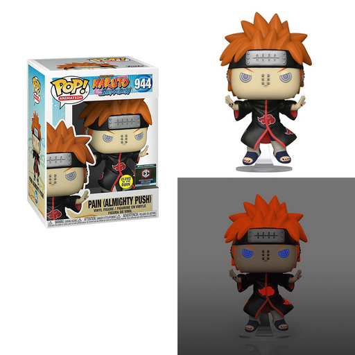 Funko POP! Naruto Shippuden - Pain (Almighty Push) (Glow In The Dark) #944 Chalice Exclusive [READ DESCRIPTION]