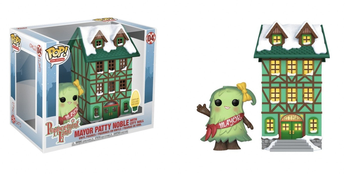 [PRE-ORDER] Funko POP! Town: Peppermint Lane - Mayor Patty Noble with City Hall Vinyl #4