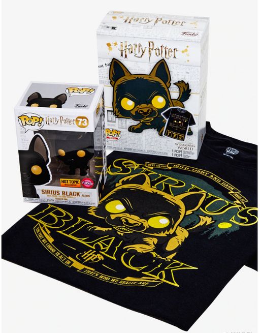 Funko POP! and Tee: Harry Potter - Sirius Black Collectors Box Hot Topic Exclusive