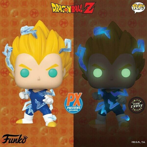 Funko POP! Dragon Ball Z - Super Saiyan 2 Vegeta Common and Chase Bundle Preview Exclusives (PX)
