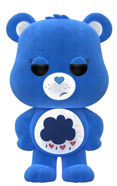 Funko POP! Care Bears - Flocked Grumpy Bear Vinyl Figure #353 Box Lunch Exclusive (NOT 100% MINT)