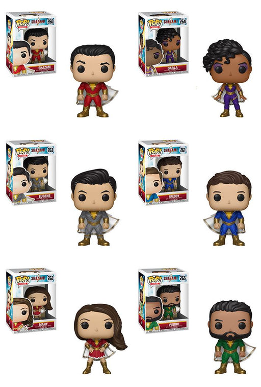 Funko POP! Shazam - Complete Set of 6