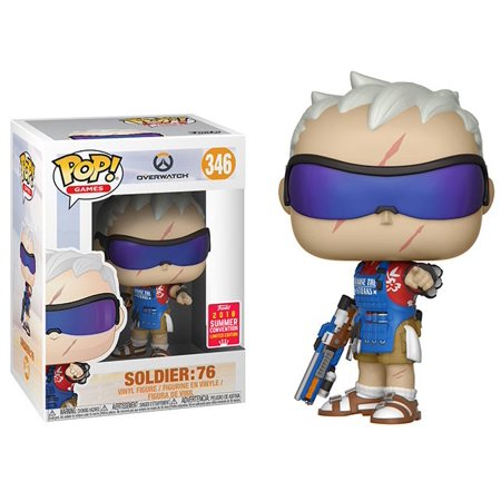 Funko POP! Overwatch - Soldier Grillmaster 76 Vinyl Figure #346 2018 Summer Convention Exclusive (NOT 100% MINT)
