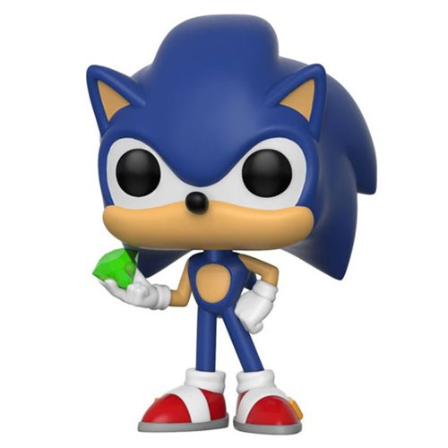 Funko POP! Sonic The Hedgehog - Sonic with Emerald Vinyl Figure #284