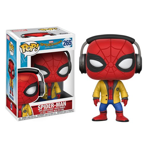 Funko POP! Spiderman Home Coming - Spider-Man with Headphones Vinyl Figure #265