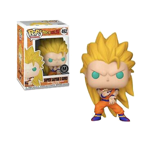 Funko POP! Dragon Ball Z - Super Saiyan 3 Goku Vinyl Figure #492 Monster Exclusive (NOT 100% MINT)