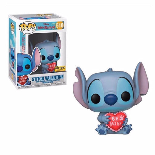 Funko POP! Lilo & Stitch -Stitch Valentine Vinyl Figure #510 Hot Topic Exclusive (NOT 100% MINT)