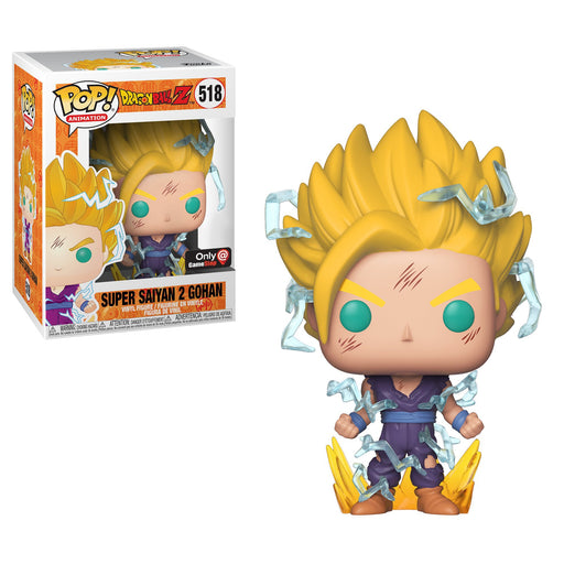 Funko POP! Dragon Ball Z - Super Saiyan 2 Gohan Vinyl Figure #518 GameStop Exclusive (NOT 100% MINT)