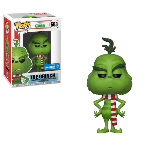 Funko POP! The Grinch - The Grinch w/ Scarf #663 Walmart Exclusive (NOT 100% MINT)