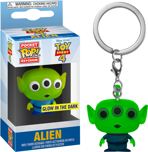 Funko POP! Keychain: Toy Story 4 - Alien (Glow in the Dark) Pocket Keychain Special Edition Exclusive
