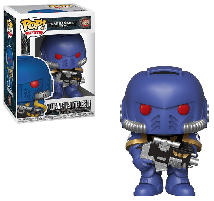 Funko POP! Warhammer 40k - Ultramarines Intercessor Vinyl Figure #499