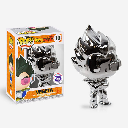 Funko POP! Dragon Ball Z - Vegeta (Silver Chrome) Vinyl Figure #10 Funimation Exclusive (NOT 100% MINT)