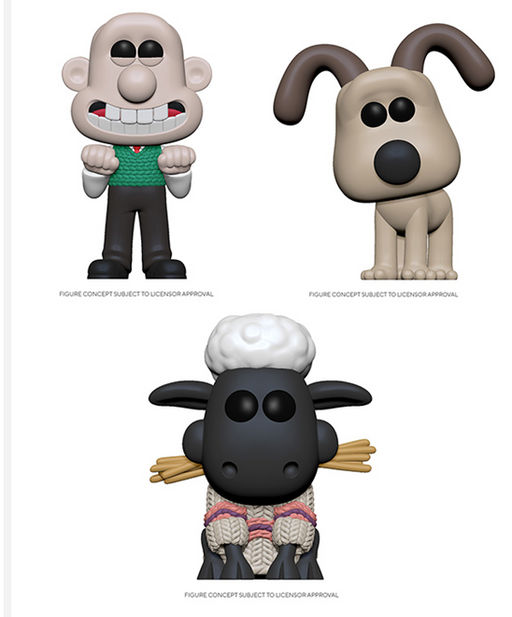 [PRE-ORDER] Funko POP! Wallace and Gromit - Set of 3