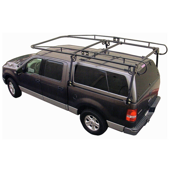 Paramount Full Size Truck Camper Shell Contractor Rack Black Truck