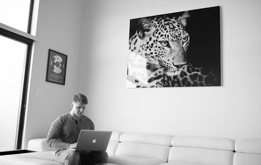 A visual of Justin Woll completing eCommerce product research on his computer