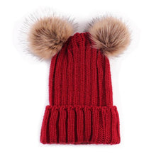 Adorably Warm Mom Baby Pompom Hat