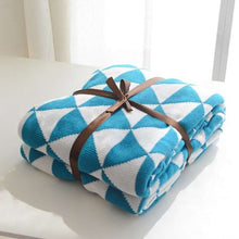 Cotton comfortable geometric pattern sofa cover blanket