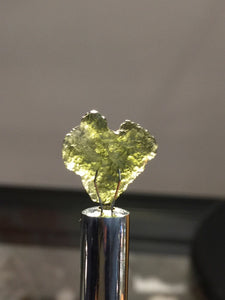 Moldavite naturally formed heart shape