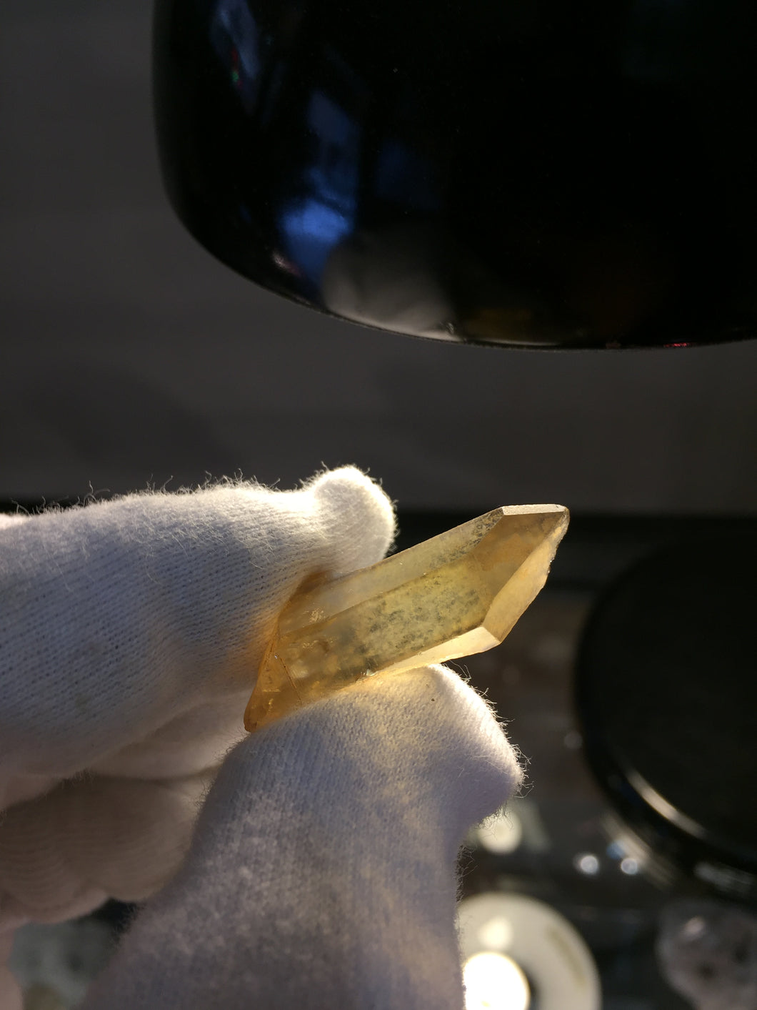 Natural Citrine from Zambia with self healed termination