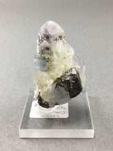 Fluorite, Galena, Calcite on Quartz from China