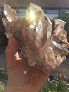 Water clear Himalayan Quartz cluster