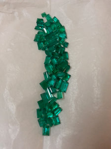 Emeralds faceted, from the Muzo mine, Columbia
