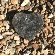 Smoky Quartz Druzy Heart