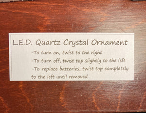 Flashing Quartz Crystal Ornament