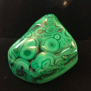 Malachite, polished, The Congo