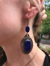 Huge Lapis Lazuli Statement Earrings