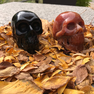 Large Stone Skull Carvings