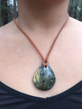 Labradorite & Leather Necklaces