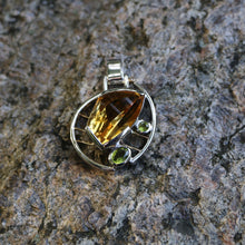 Citrine and Peridot Pendant