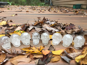 Clear Quartz Skull Carving
