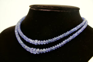 Tanzanite Double Strand Beaded Necklace