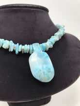 Larimar Beaded Necklace with Pendant