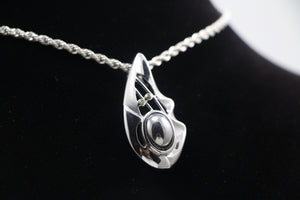 Meteorite and Sterling Silver Pendant