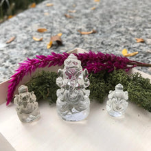 Ganesh carved from Himalayan quartz crystal