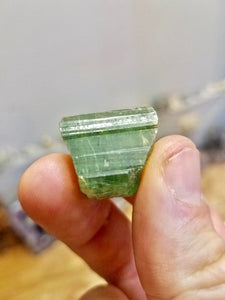 Tourmaline crystal, mined in Brazil.