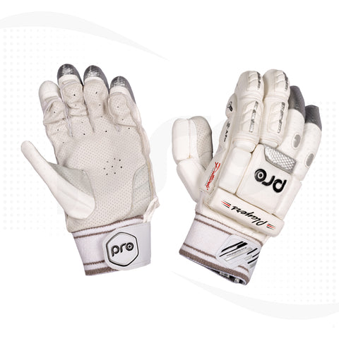 PRO Players Test Grade Traditional Finger Cricket Batting Gloves