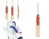 MRF Grand Edition Virat Kohli English Willow Cricket Bat + Gloves Combo - RH Only